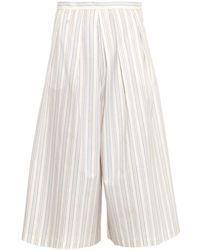 Rachel Comey Wayward Striped Cropped Trousers - Lyst