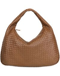 Bottega Veneta Large Veneta Intreccio Nappa Leather Bag - Lyst