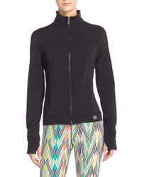 Trina Turk - Cut-Out Zip-Front Jacket - Lyst
