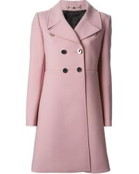 Gucci Silver Button Coat - Lyst