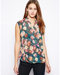 Wal-G - Wrap Front Floral Blouse - Lyst
