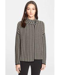 Armani - Textured Wool Blend Cardigan - Lyst