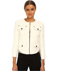 Balmain Long Sleeve Jacket With Pocket Detail - Lyst