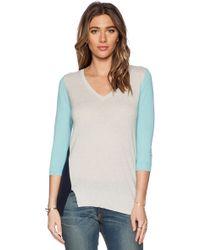 Autumn Cashmere Multicolor Asymmetric Sweater - Lyst