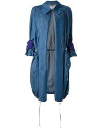 Acne Denim Strap Trench Coat - Lyst