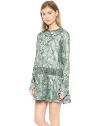 Rochas Embellished Dress  Multi - Lyst