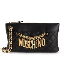 Moschino Quilted Chain Clutch - Lyst