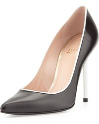 Stuart Weitzman Pipe Nouveau Leather High-heel Pump - Lyst