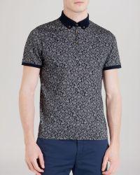 Ted Baker Spyda Printed Polo Shirt - Slim Fit blue - Lyst