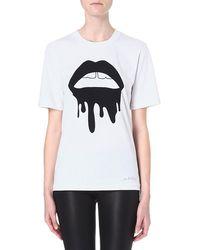 Markus Lupfer Lara Drip Lips T-Shirt  - Lyst