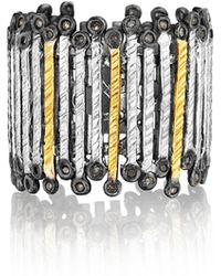 Coomi - Spring Tricolor Gold & Silver Band Ring - Lyst