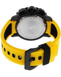 Swiss Legend - Scubador Sport Chrono Yellow Silicone Black Dial Ip Ss - Lyst