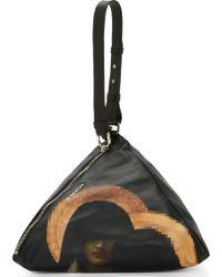 Givenchy Black Leather Madonna Pyramid Clutch - Lyst