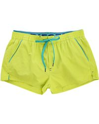 Diesel Fluoro Yellow Barrely Waistband Swim Shorts yellow - Lyst