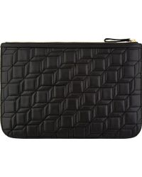 Pierre Hardy Black Quilted Leather Nappa Cb Clutch - Lyst