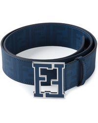 fendi designer belts ol0b  Fendi  Ff Logo Buckle Belt  Lyst