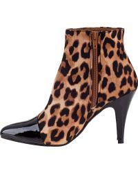 Jeffrey Campbell Jessa Ankle Boot Leopard - Lyst