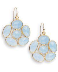 Nunu - Moonstone Cluster Earrings - Lyst