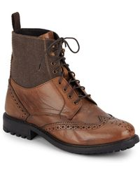 Ben Sherman | Dudley Leather Wing-tip Boot | Lyst