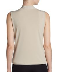 Calvin Klein Twistfront Knit Top - Lyst