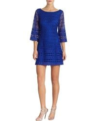 Laundry By Shelli Segal Lace Shift Dress - Lyst