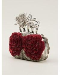 Alexander McQueen Knucklebox Floral Clutch - Lyst