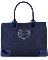 Tory Burch Ella Nylon Tote Bag French Navy - Lyst