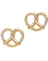 Marc By Marc Jacobs Salty Preztel Stud Earrings Oro - Lyst