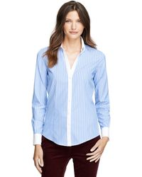 Brooks Brothers Noniron Fitted Bold Stripe Dress Shirt - Lyst