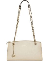 DKNY Beekman French Grain Leather Clutch With Chain Handle - Lyst