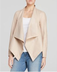 Eileen Fisher - Draped Leather Jacket - The Fisher Project - Lyst