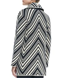 Tory Burch Tavia Chevron Winter Cotton Jacket - Lyst