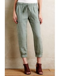 Cloth & Stone - Drawstring Linen Joggers - Lyst