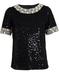 Ashish Sequinned Jewelled Top - Lyst
