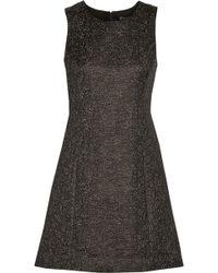 Theyskens' Theory Dino Metallicflecked Crepe Mini Dress - Lyst