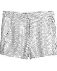 Acne Studios Tine Pailette Sequin Shorts - Lyst