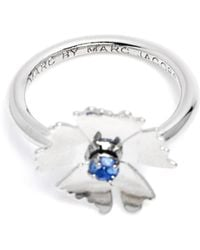 Marc By Marc Jacobs Argento Mini Pinwheel Ring - Lyst