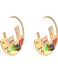 Maria Francesca Pepe - Map Plaque Hoop Earrings - Lyst