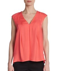 Halston Heritage Sleeveless Swing Top - Lyst