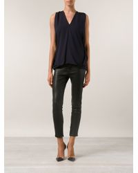 Yigal Azrouel Draped Blouse - Lyst
