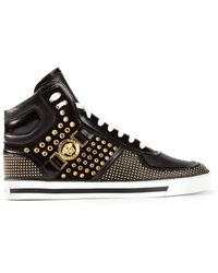 Versace Studded Medusa Hitop Sneakers - Lyst