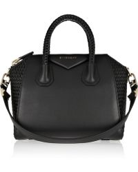 Givenchy Small Antigona Bag in Black Leather - Lyst
