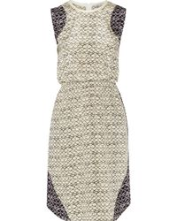 Sea Printed Stretch-silk Dress - Lyst