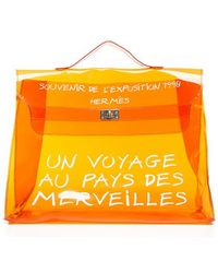 Hermes Pre-owned Vinyl Souvenir D Exposition Kelly Bag - Lyst