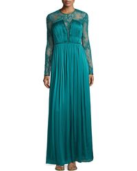 Catherine Deane Venice Lace & Silk Gown green - Lyst