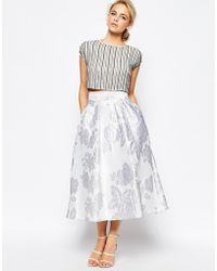 Coast - Full Eve Skirt In Floral Jacquard - Lyst