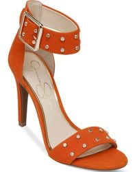 Jessica Simpson Elonna Two-Piece Studded Sandals - Lyst