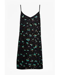 French Connection Sequin Leopard Tunic Dress blue - Lyst