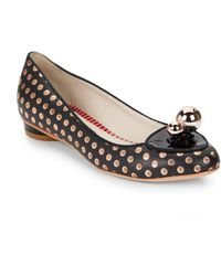 Sophia Webster Millie Polka Dot Leather Flats - Lyst