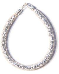 Peppercotton Silver Swarovski Crystal Bracelet - Metallic